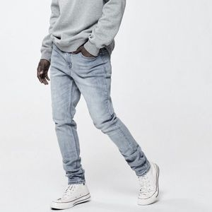 🆕 PACSUN SKINNY STACKED JEANS LIGHT INDIGO COLOR